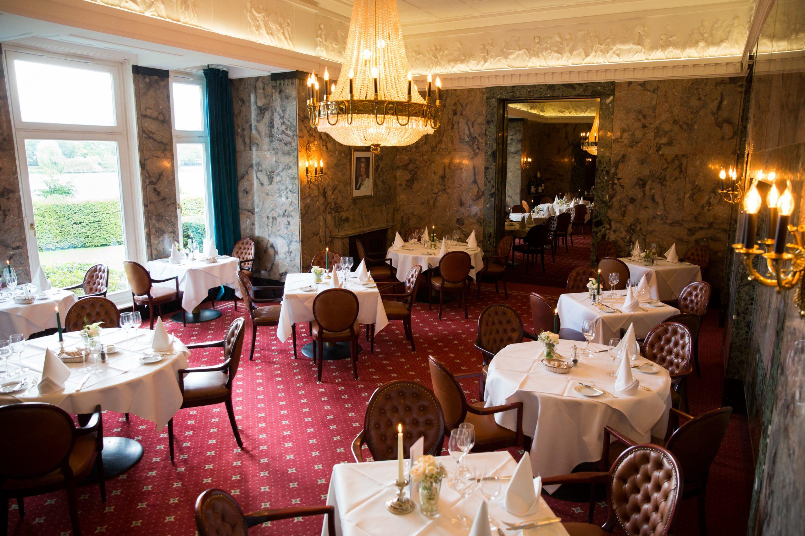 Restaurant mit Blick auf die Alster